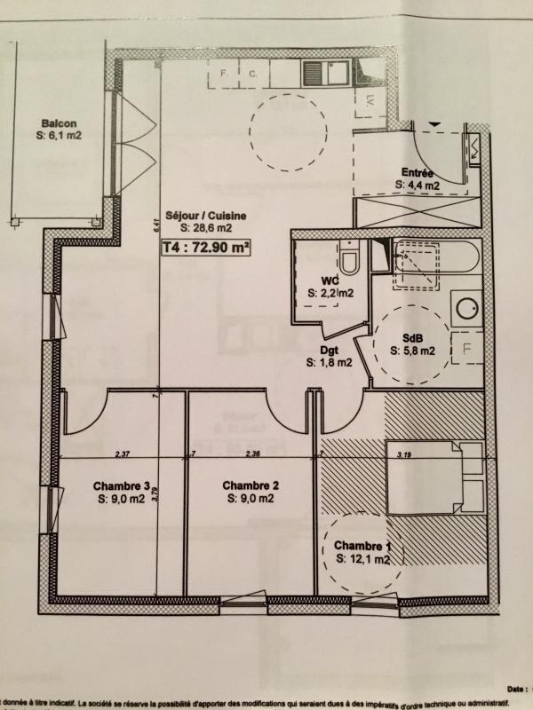 Venta  apartamento Schiltigheim 272000€ - Fotografía 7