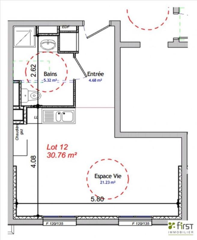 Vendita appartamento Balme de sillingy 134200€ - Fotografia 3