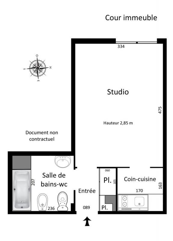 Vente appartement Paris 4ème 375000€ - Photo 3