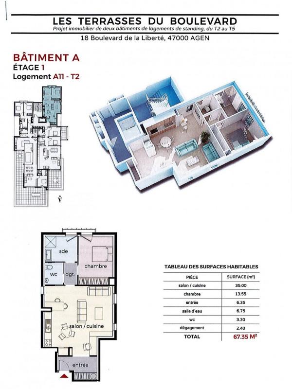 Venta  apartamento Agen 130000€ - Fotografía 2