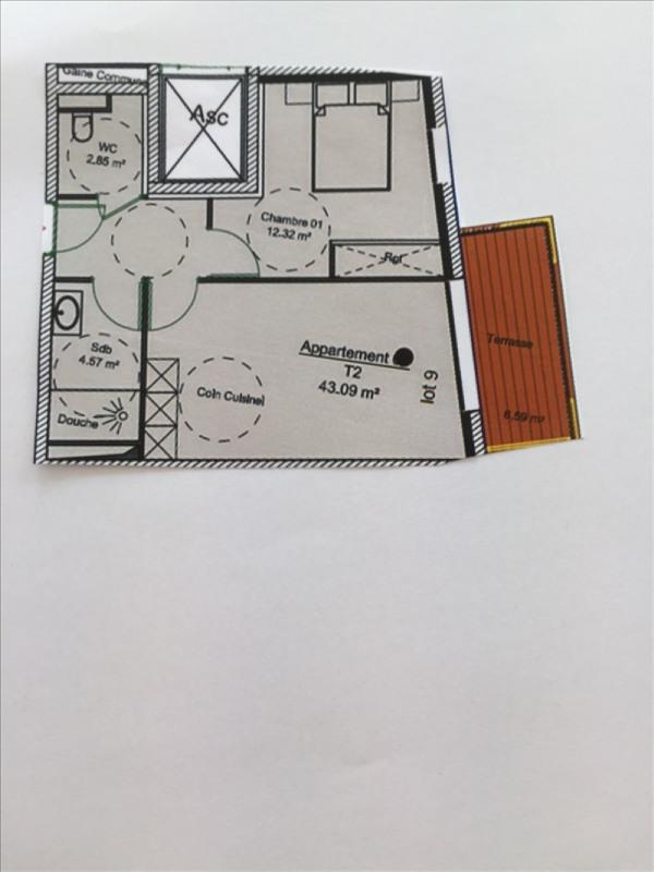 Vendita appartamento Charbonnieres les bains 232686€ - Fotografia 4