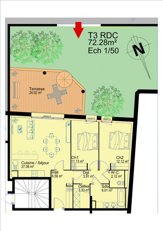 Sale apartment Albi 165000€ - Picture 3