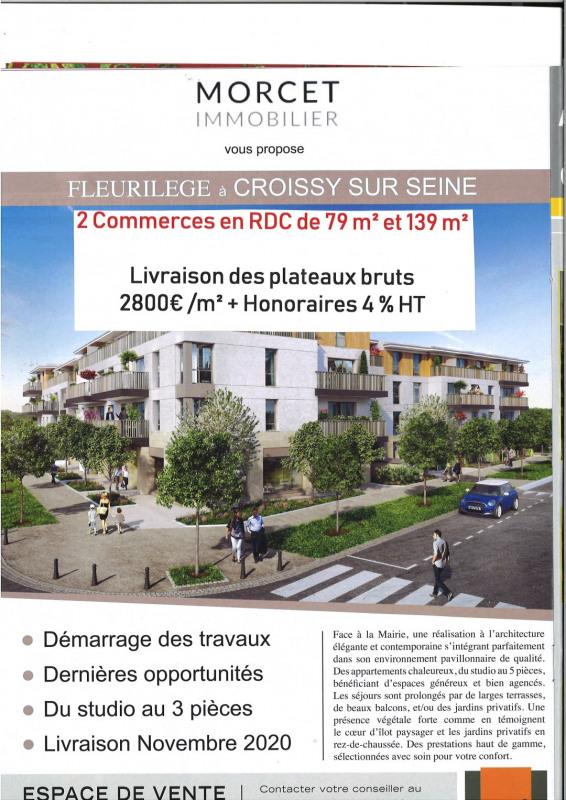 Sale shop Croissy sur seine 388360€ HT - Picture 1