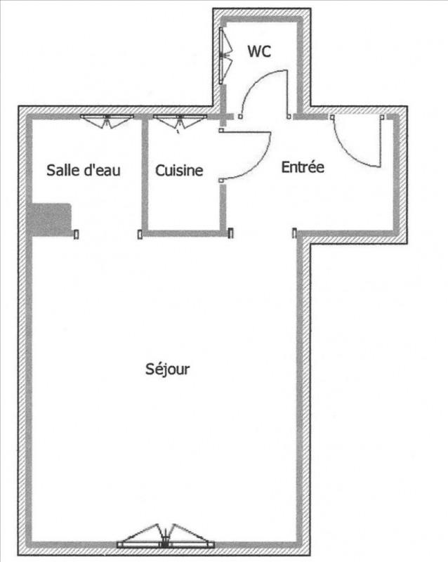 Rental apartment Paris 18ème 576€ CC - Picture 3