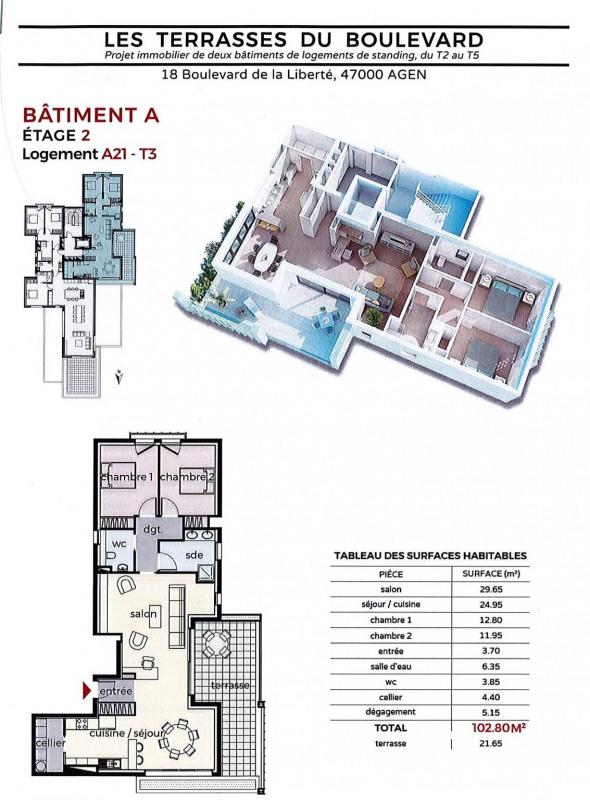 Venta  apartamento Agen 240000€ - Fotografía 2