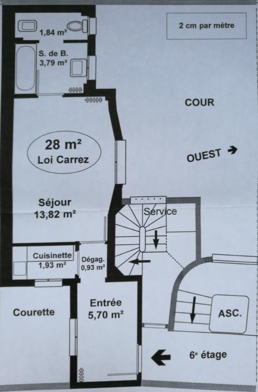 Rental apartment Paris 8ème 1425€ CC - Picture 2