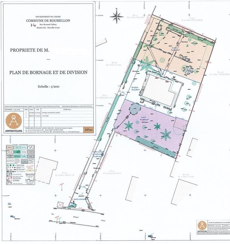 Vendita terreno Roussillon 85000€ - Fotografia 1