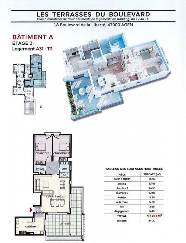 Vente appartement Agen 250000€ - Photo 1