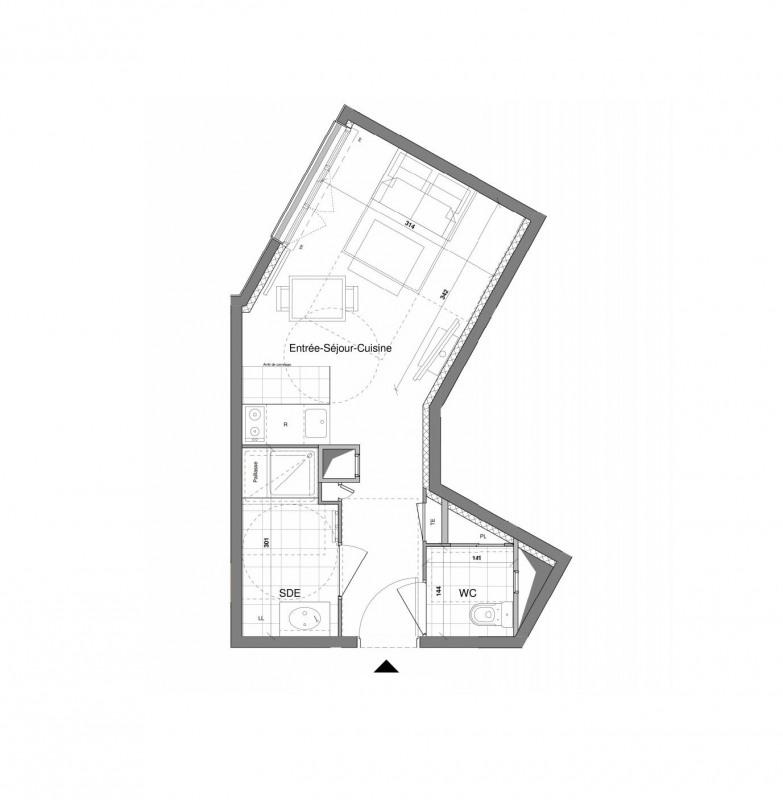 Investment property apartment Le plessis-trévise 149000€ - Picture 1