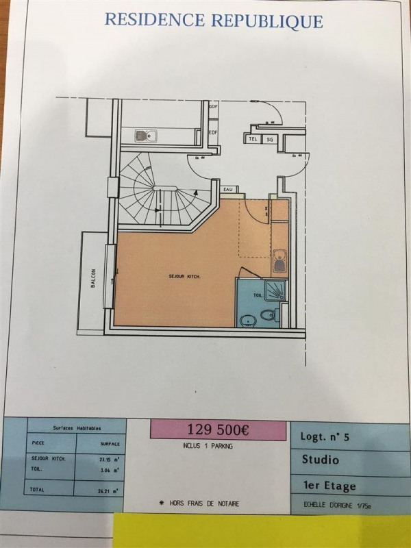 Vente appartement Savigny sur orge 129500€ - Photo 1