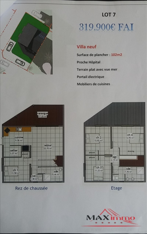Vente maison / villa St pierre 319900€ - Photo 1