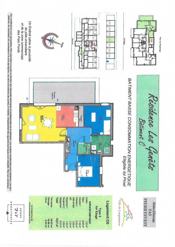 Vente appartement Longuenesse 257000€ - Photo 2