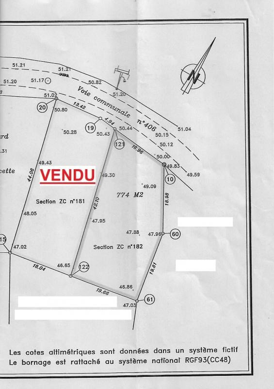 Vente terrain Connerre 13990€ - Photo 3