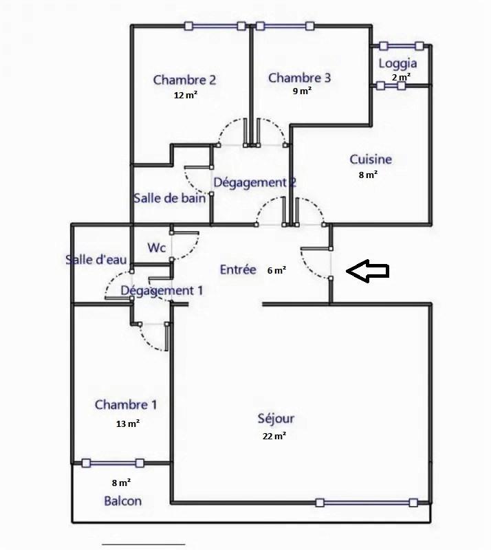 Vente appartement Clamart 379000€ - Photo 2