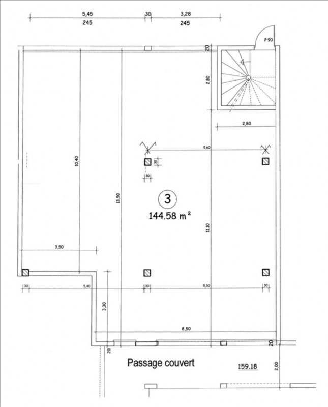 Rental empty room/storage Villejust 1500€ HT/HC - Picture 2