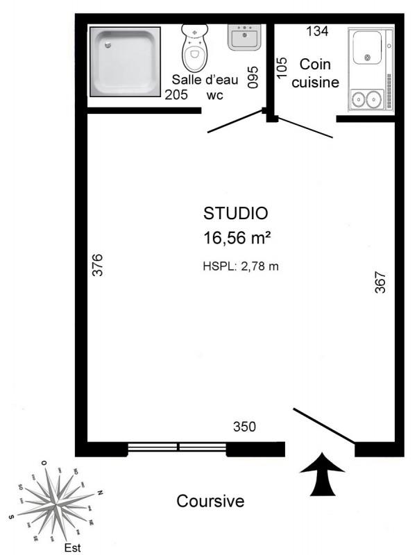 Rental apartment Paris 16ème 569€ CC - Picture 3