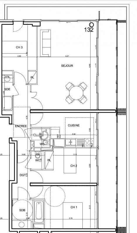 Rental apartment Boulogne-billancourt 2425€ CC - Picture 5
