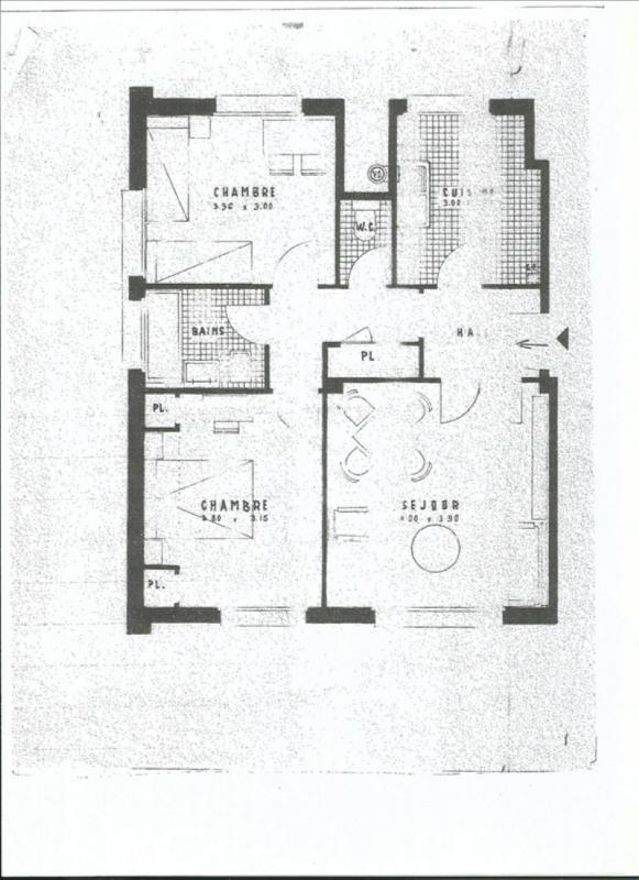 Sale apartment Versailles 344000€ - Picture 2