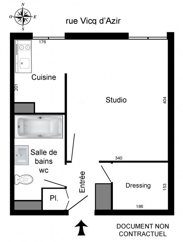 Rental apartment Paris 10ème 744€ CC - Picture 3