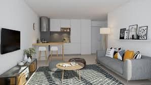 Bel appartement de deux pièces avec balcon