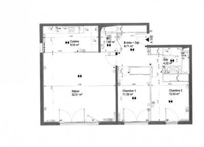 Appartement Boulogne Billancourt 3 pièce (s) 80.58 m²