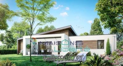 Terrain 1100m² hors lotissement + construction 100m² avec garage