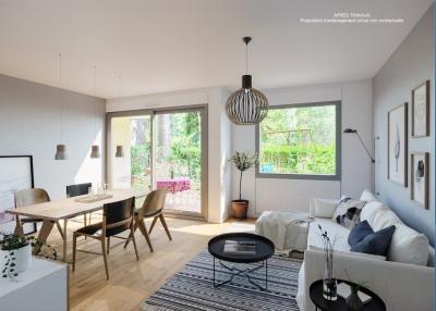 Appartement Rez-de-jardin - 92 m² - 3 ch