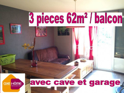 Appartement 3pieces 62m² / cave / garage