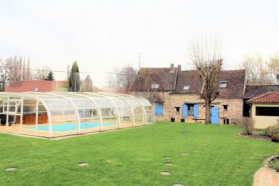 Rozay briarde de 180m² -4 chambres-piscine couverte sur 1930m²
