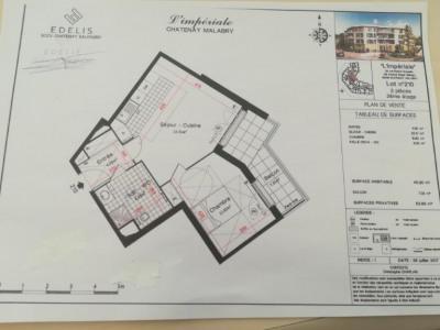 CHATENAY-MALABRY - 2 pièces NEUF de 45,30m² avec terrasse