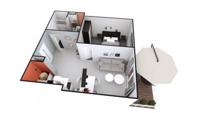 T2 de 41 m² Saint nazaire