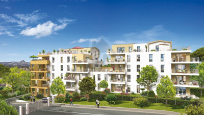 Appartement T3 avec terrasse et 2 parkings à AUBAGNE 13400