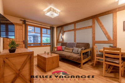 APARTMENT FOR SALE IN SAINT LARY CENTER VILLAGE IMMOBILIER SAINT LARY SOULAN This TYPE 2 apartment located in the heart of SAINT LARY, in a charming residence with HEATED INDOOR POOL, SAUNA, HAMMAM and whirlpool offers you an ideal geographic location in THE VILLAGE. The apartment, located on the 1st floor with ELEVATOR, has an entrance, a bedroom, a bathroom and separate WC. The living room opens onto a balcony. An additional advantage: you benefit from a covered parking space. Commercial lease in progress with EUROGROUP which will end in April 2020.