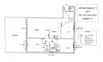Appartement de type 4 en RDC avec terrasse garage et parking