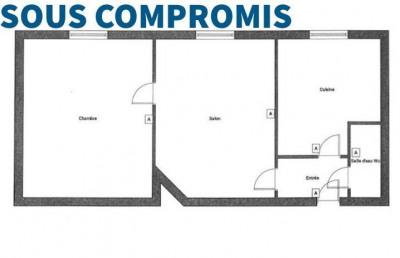 Rue d'alsace - 2 pièces de 37 m²