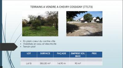 Vente terrain Chevry Cossigny