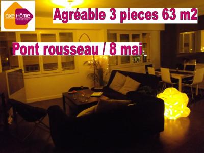 Nantes sud Bel appartement 3 pièces 63 m²