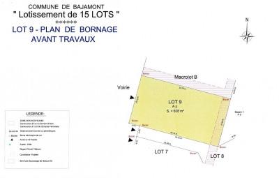 Terrain à bâtir - 608 m²
