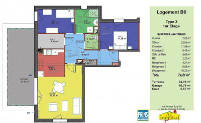 Appartement neuf 3 pièces avec garage