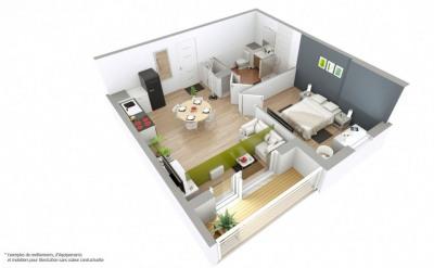 Appartement T2 de 42m² avec loggia sur Bourgoin (38300)