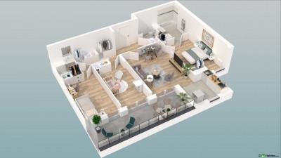 Appartement 4 pièces avec 1Loggia et 1 Parking