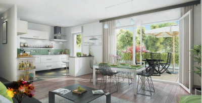 Appartement studio 1 pièce de 31,5m² + jardin + parking
