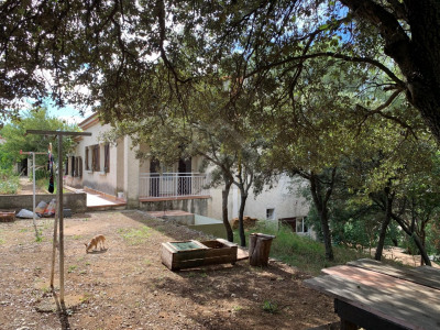 Grande villa familiale au calme avec piscine et grand terrai