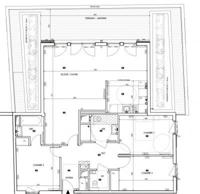 Appartement 4 pièces avec terrasse et jardinerie