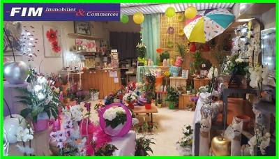 Magasin de fleurs très bien situé clientèle d'habitués
