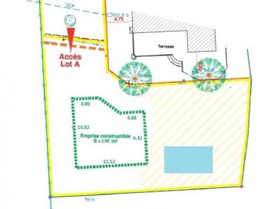 Terrain Aix En Provence 800 m² + 462 m²