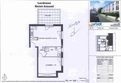 Toulouse- lardenne appartement 2 pièce (s) 57.56 m²