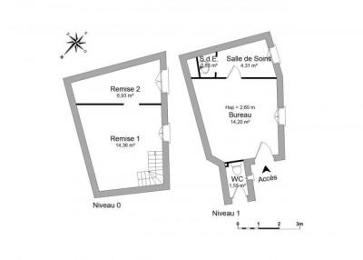 FIRMINY Locaux commerciaux 3 pièces 42.18 m²