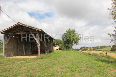 Terrain avec grange