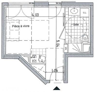 Appartement Bagnolet 1 pièce (s)